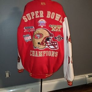 NFL 49rs Superbowl Letterman jacket